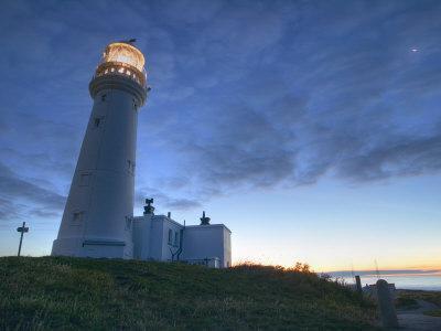 Flamborough Lighthouse, Flamborough, East Yorkshire, Yorkshire, England, United Kingdom, Europe