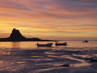 Lindisfarne at Sunrise, Holy Island, Northumberland, England, United Kingdom, Europe