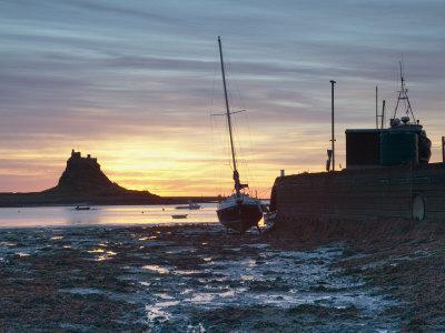 Sunrise at Lindisfarne, Holy Island, Northumberland, England, United Kingdom, Europe