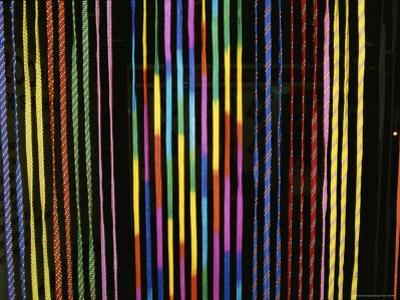 Colorful Strings in a Shop in Manila