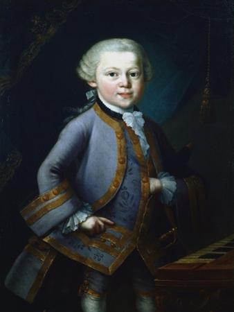 Wolfgang Amadeus Mozart, Austrian Composer, 1761