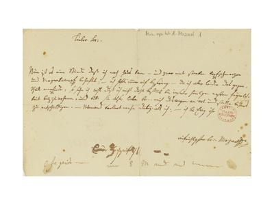 Letter from Mozart to a Freemason, January 1786