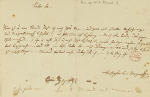 Letter from Mozart to a Freemason, January 1786 by Wolfgang Amadeus Mozart