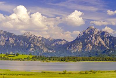 Panorama Scenery in the Forggensee in Bavaria