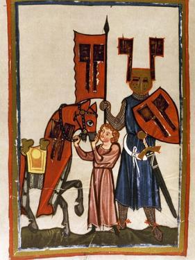 Wolfram Von Eschenbach (Ca.1170-1220), German Poet, Author of 'Parzival', with Harness and…