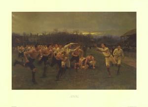 The Rugby Match by Wollen