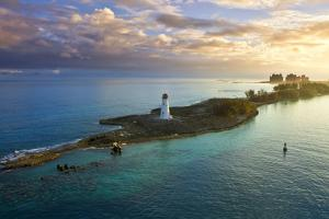 Nassau Bahamas, Lighthouse, and Paradise Island at Dawn by Wollwerth Imagery