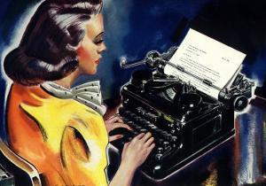 Woman at Typewriter, 1939