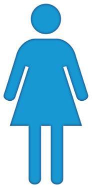 Woman Bathroom Symbol Lifesize Cardboard Cutout