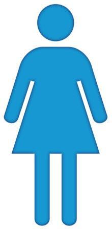 Woman Bathroom Symbol Lifesize Standup