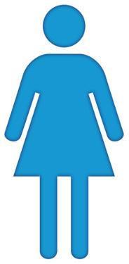 Woman Bathroom Symbol Lifesize Standup