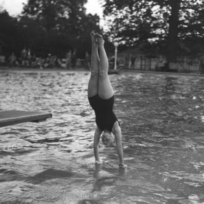 Woman Diving into a Swimming Pool, 20th Century