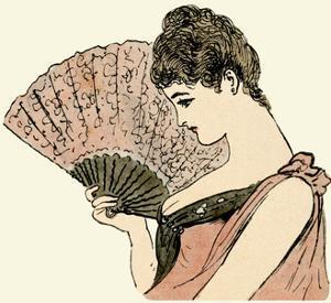 Woman Holding a Fan 1889