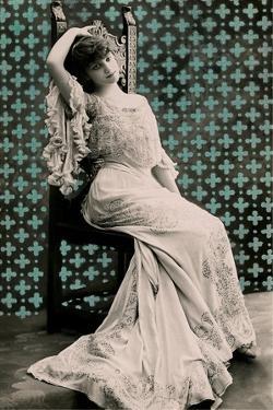 Woman in Fancy Gown