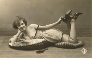 Woman in Slip and Shoes