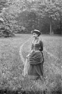 Woman in Wooded Meadow