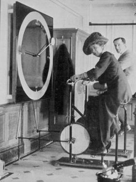 Woman Keeping Fit in the Titanic's Gymnasium