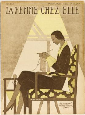 Woman Knitting 1929