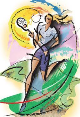 Woman Lacrosse Player