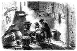 Woman Preparing Cakes for the Chinese New Year, 1861