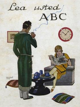 Woman Reading ABC Magazine, Magazine Plate, Spain, 1930