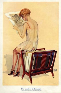 Woman reading, Magazine Advertisement, UK, 1920