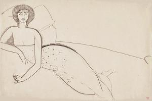 Woman Reclining on a Bed (Anna Akhmatova), c. 1911