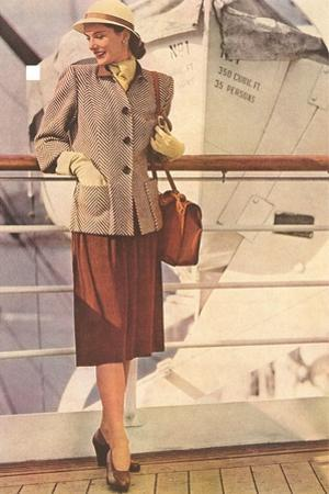 Woman's Suit for Ocean Liner Travel