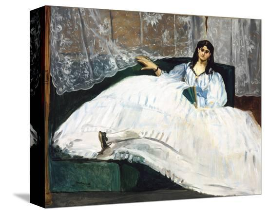 Woman with a Fan, 1862-Edouard Manet-Stretched Canvas