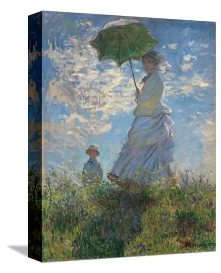 Woman with a Parasol, 1875-Claude Monet-Stretched Canvas Print