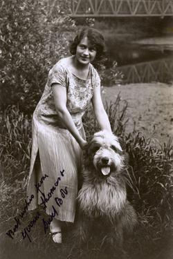 Woman with Bearded Collie