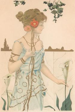 Woman with Calla Lily