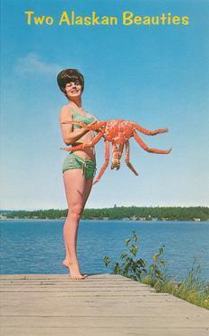 Woman with Crab, Alaskan Beauties