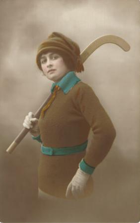 Woman with Field Hockey Stick