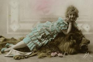 Woman with Lion 1920s