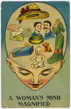 Womans Mind Magnified