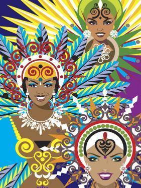 Women in Costumes for Carnival in Rio De Janeiro, Brazil