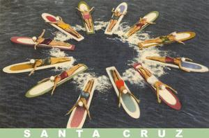 Women on Paddleboards, Sana Cruz