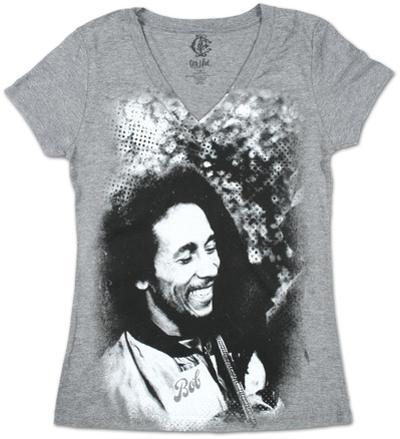 Women's: Bob Marley - Smile Burnout V-Neck