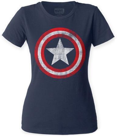 Women's: Captain America- Distressed Shield