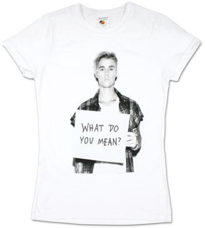 Women's: Justin Bieber- What Do You Mean