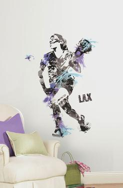 Women's Lacrosse Champion Peel and Stick Giant Wall Decal