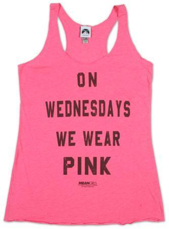 Women's: Mean Girls- Pink Tank Top