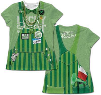 Women's: St. Patricks Day Lucky Costume Tee
