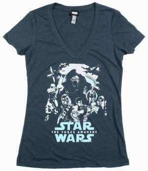 Women's: Star Wars The Force Awakens- Poster Out V-neck tee
