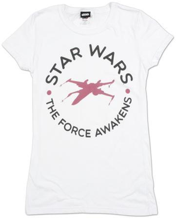 Women's: Star Wars The Force Awakens- Round Word