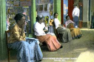 Women Selling Lottery Tickets, Panama City, Panama, C1920S