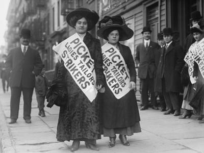 Women Strike Pickets During the New York Shirtwaist Strike of 1909