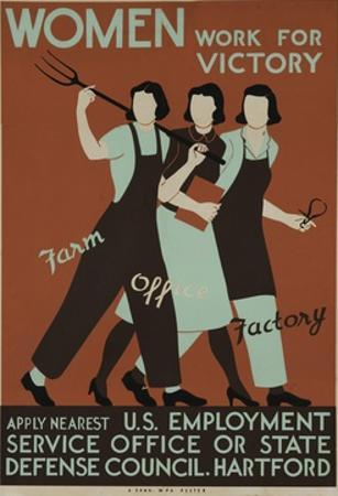 Women Work for Victory Poster