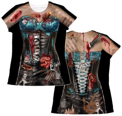 Womens: Corset Zombie Costume Tee